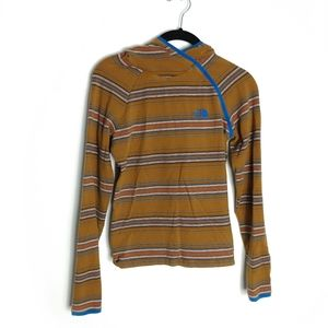 The North Face Retro Style Striped Hooded Shirt